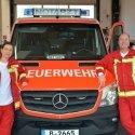 Stützpunktleiterin Dr. Lydia Hottenbacher und ihr Stellvertreter Matthias Maruer von Vivantes am NEF.