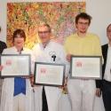 Drei Urkunden für das SJK. V.l.n.r. Tobias Dreißigacker, Dr. Beatrix Schmidt, Prof. Dr. Abou-Dakn, Dr. Heiko Graffstädt, Ingo Bach
