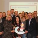 Gesundheitssenatorin Dilek Kolat und die Chefärzte der Berliner Kliniken für Geburtshilfe bei der Auftaktveranstaltung. Foto: SenGPG