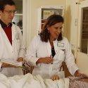 Prof. Dr. Christiane Erley auf der Dialysestation des SJK