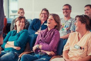Beim Humor-Workshop gab es für die Teilnehmenden viel zu Lachen