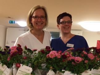 Die Stillberaterinnen Nicole Kunze und Bettina Kraus freuen sich auf Anmeldungen