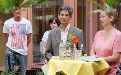 Einweihung des Färbergarten mit Bezirksstadtrat Oliver Schworck