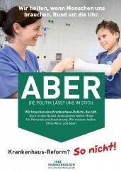 Kampagnenmotiv zur Krankenhaus-Reform