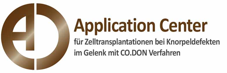 Application Center für Zelltransplantationen bei Knorpeleffekten im Gelenk mit CO.DON Verfahren
